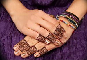 фото Рисунки мехенди на руке от 02.10.2017 №040 - mehendi on hand - tattoo-photo.ru