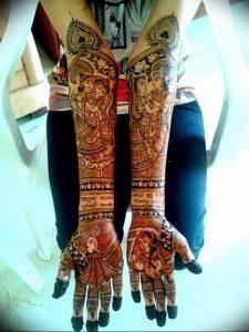 фото Рисунки мехенди на руке от 02.10.2017 №043 - mehendi on hand - tattoo-photo.ru