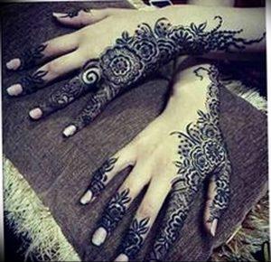 фото Рисунки мехенди на руке от 02.10.2017 №059 - mehendi on hand - tattoo-photo.ru