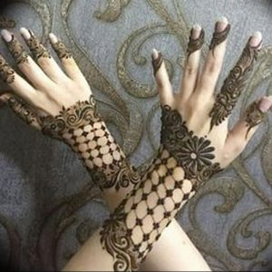 фото Рисунки мехенди на руке от 02.10.2017 №075 - mehendi on hand - tattoo-photo.ru