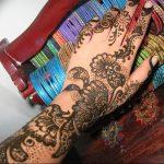 фото Рисунки мехенди на руке от 02.10.2017 №080 - mehendi on hand - tattoo-photo.ru