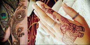фото Рисунки мехенди на руке от 02.10.2017 №081 - mehendi on hand - tattoo-photo.ru