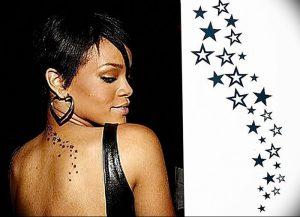 фото Тату Рианны от 30.09.2017 №005 - Rihanna Tattoo - tattoo-photo.ru