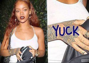 фото Тату Рианны от 30.09.2017 №006 - Rihanna Tattoo - tattoo-photo.ru