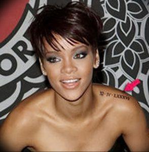 фото Тату Рианны от 30.09.2017 №011 - Rihanna Tattoo - tattoo-photo.ru