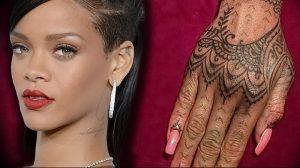 фото Тату Рианны от 30.09.2017 №018 - Rihanna Tattoo - tattoo-photo.ru