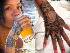 фото Тату Рианны от 30.09.2017 №029 - Rihanna Tattoo - tattoo-photo.ru