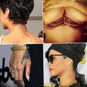 фото Тату Рианны от 30.09.2017 №035 - Rihanna Tattoo - tattoo-photo.ru