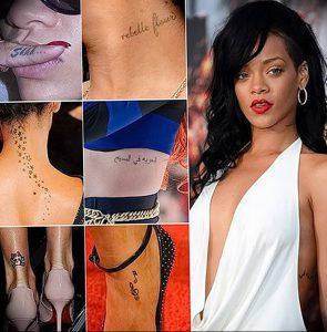 фото Тату Рианны от 30.09.2017 №046 - Rihanna Tattoo - tattoo-photo.ru