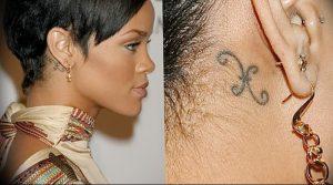 фото Тату Рианны от 30.09.2017 №054 - Rihanna Tattoo - tattoo-photo.ru