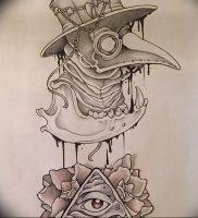 фото тату Чумной Доктор от 04.10.2017 №001 — tattoo Plague Doctor — tattoo-photo.ru