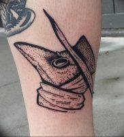 фото тату Чумной Доктор от 04.10.2017 №006 — tattoo Plague Doctor — tattoo-photo.ru