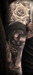 фото тату Чумной Доктор от 04.10.2017 №007 - tattoo Plague Doctor - tattoo-photo.ru