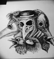 фото тату Чумной Доктор от 04.10.2017 №008 — tattoo Plague Doctor — tattoo-photo.ru