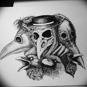 фото тату Чумной Доктор от 04.10.2017 №008 - tattoo Plague Doctor - tattoo-photo.ru