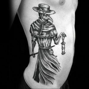 фото тату Чумной Доктор от 04.10.2017 №009 - tattoo Plague Doctor - tattoo-photo.ru