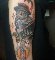 фото тату Чумной Доктор от 04.10.2017 №010 — tattoo Plague Doctor — tattoo-photo.ru