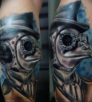 фото тату Чумной Доктор от 04.10.2017 №012 — tattoo Plague Doctor — tattoo-photo.ru