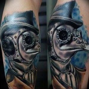 фото тату Чумной Доктор от 04.10.2017 №012 - tattoo Plague Doctor - tattoo-photo.ru