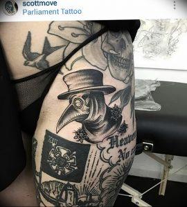фото тату Чумной Доктор от 04.10.2017 №016 - tattoo Plague Doctor - tattoo-photo.ru