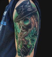 фото тату Чумной Доктор от 04.10.2017 №019 — tattoo Plague Doctor — tattoo-photo.ru