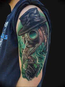 фото тату Чумной Доктор от 04.10.2017 №019 - tattoo Plague Doctor - tattoo-photo.ru