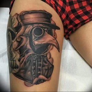 фото тату Чумной Доктор от 04.10.2017 №028 - tattoo Plague Doctor - tattoo-photo.ru