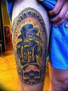 фото тату Чумной Доктор от 04.10.2017 №029 - tattoo Plague Doctor - tattoo-photo.ru