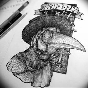 фото тату Чумной Доктор от 04.10.2017 №031 - tattoo Plague Doctor - tattoo-photo.ru