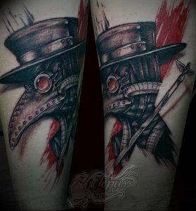 фото тату Чумной Доктор от 04.10.2017 №038 - tattoo Plague Doctor - tattoo-photo.ru