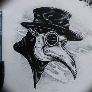фото тату Чумной Доктор от 04.10.2017 №039 - tattoo Plague Doctor - tattoo-photo.ru