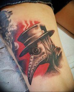 фото тату Чумной Доктор от 04.10.2017 №045 - tattoo Plague Doctor - tattoo-photo.ru