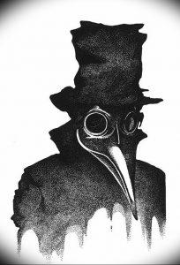 фото тату Чумной Доктор от 04.10.2017 №047 - tattoo Plague Doctor - tattoo-photo.ru