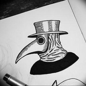 фото тату Чумной Доктор от 04.10.2017 №054 - tattoo Plague Doctor - tattoo-photo.ru