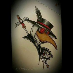 фото тату Чумной Доктор от 04.10.2017 №061 - tattoo Plague Doctor - tattoo-photo.ru