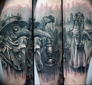 фото тату Чумной Доктор от 04.10.2017 №066 - tattoo Plague Doctor - tattoo-photo.ru
