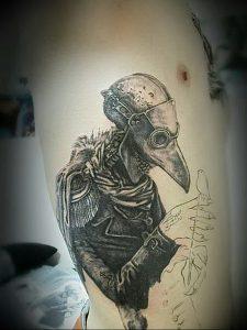 фото тату Чумной Доктор от 04.10.2017 №067 - tattoo Plague Doctor - tattoo-photo.ru