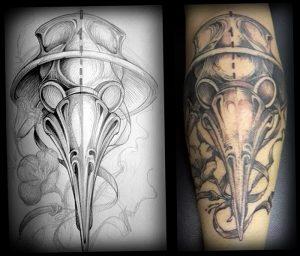 фото тату Чумной Доктор от 04.10.2017 №075 - tattoo Plague Doctor - tattoo-photo.ru