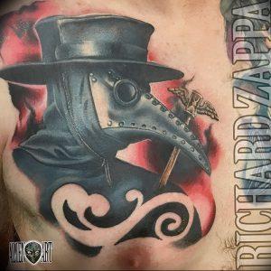 фото тату Чумной Доктор от 04.10.2017 №076 - tattoo Plague Doctor - tattoo-photo.ru