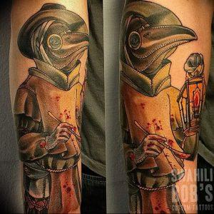 фото тату Чумной Доктор от 04.10.2017 №077 - tattoo Plague Doctor - tattoo-photo.ru