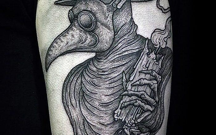 фото тату Чумной Доктор от 04.10.2017 №079 - tattoo Plague Doctor - tattoo-photo.ru
