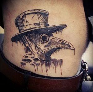 фото тату Чумной Доктор от 04.10.2017 №080 - tattoo Plague Doctor - tattoo-photo.ru