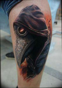 фото тату Чумной Доктор от 04.10.2017 №082 - tattoo Plague Doctor - tattoo-photo.ru