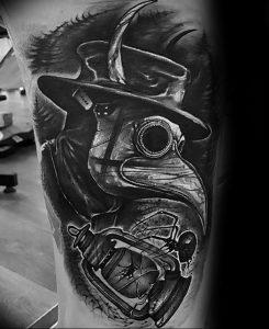 фото тату Чумной Доктор от 04.10.2017 №084 - tattoo Plague Doctor - tattoo-photo.ru