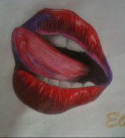 фото тату губы рисунок от 30.09.2017 №001 — tattoo lips drawing — tattoo-photo.ru