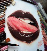 фото тату губы рисунок от 30.09.2017 №004 — tattoo lips drawing — tattoo-photo.ru