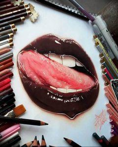 фото тату губы рисунок от 30.09.2017 №004 - tattoo lips drawing - tattoo-photo.ru