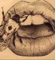 фото тату губы рисунок от 30.09.2017 №009 — tattoo lips drawing — tattoo-photo.ru
