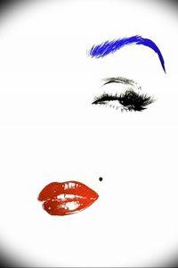 фото тату губы рисунок от 30.09.2017 №020 - tattoo lips drawing - tattoo-photo.ru