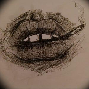 фото тату губы рисунок от 30.09.2017 №057 - tattoo lips drawing - tattoo-photo.ru
